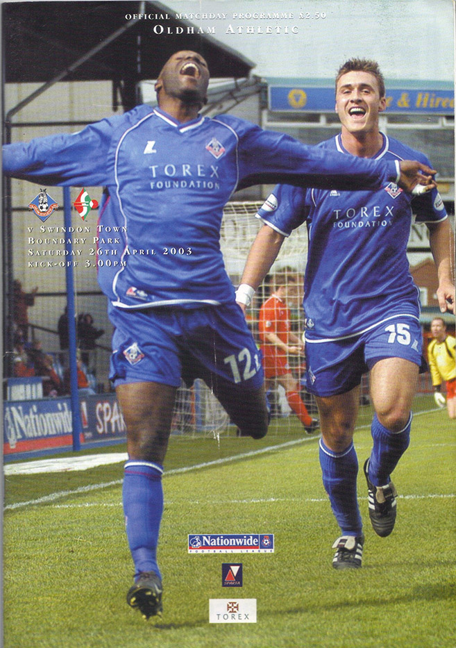 Saturday, April 26, 2003 - vs. Oldham Athletic (Away)