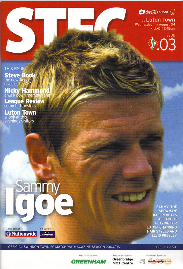 <b>Wednesday, August 11, 2004</b><br />vs. Luton Town (Home)