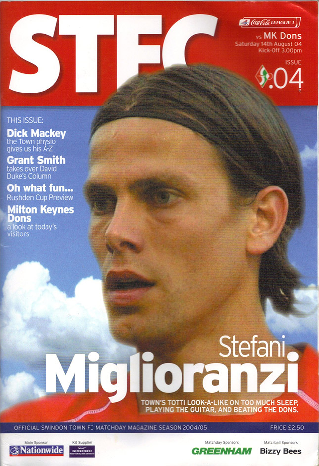 <b>Saturday, August 14, 2004</b><br />vs. Milton Keynes Dons (Home)