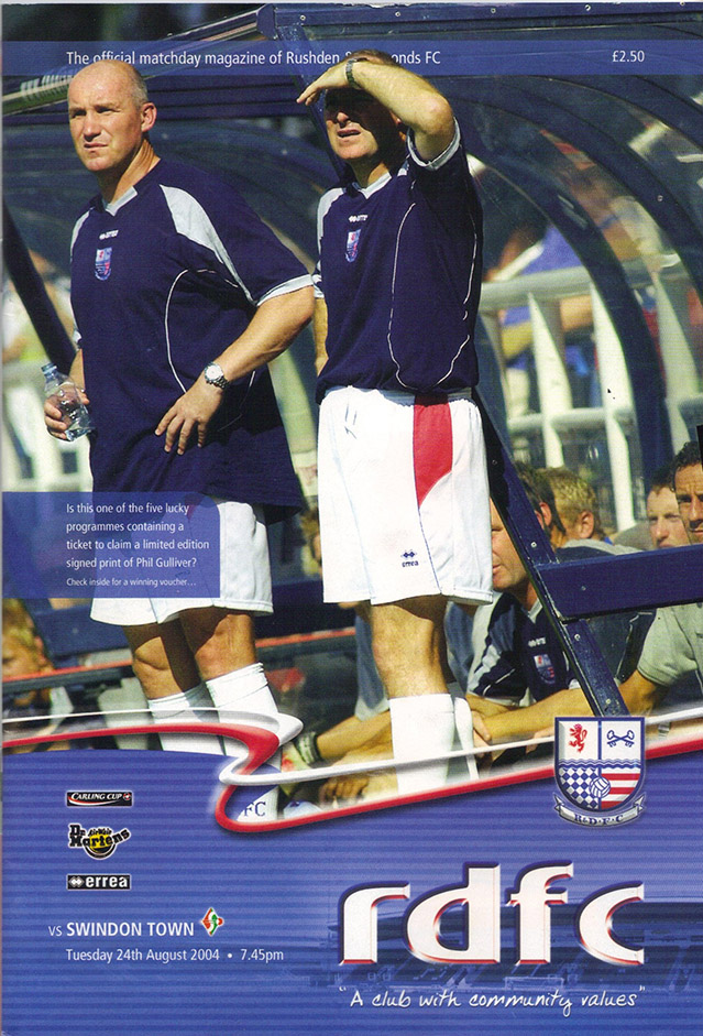 <b>Tuesday, August 24, 2004</b><br />vs. Rushden and Diamonds (Away)