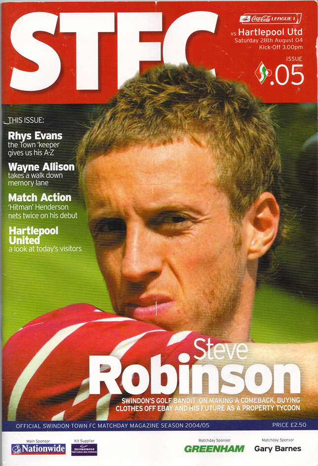 <b>Saturday, August 28, 2004</b><br />vs. Hartlepool United (Home)