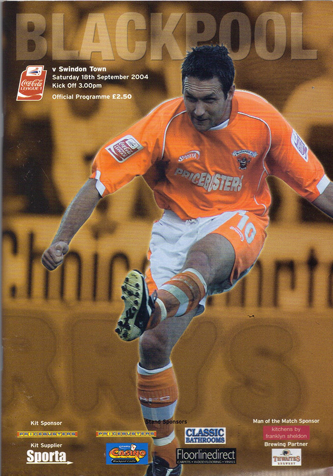 <b>Saturday, September 18, 2004</b><br />vs. Blackpool (Away)