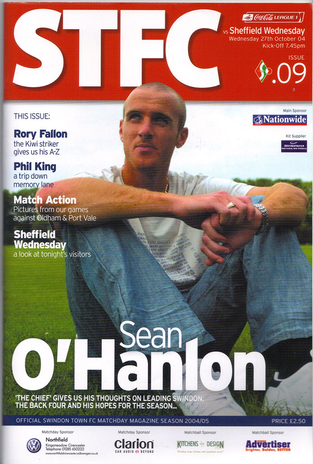<b>Wednesday, October 27, 2004</b><br />vs. Sheffield Wednesday (Home)