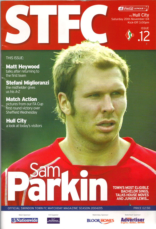 <b>Saturday, November 20, 2004</b><br />vs. Hull City (Home)