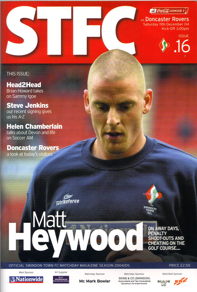 <b>Saturday, December 11, 2004</b><br />vs. Doncaster Rovers (Home)