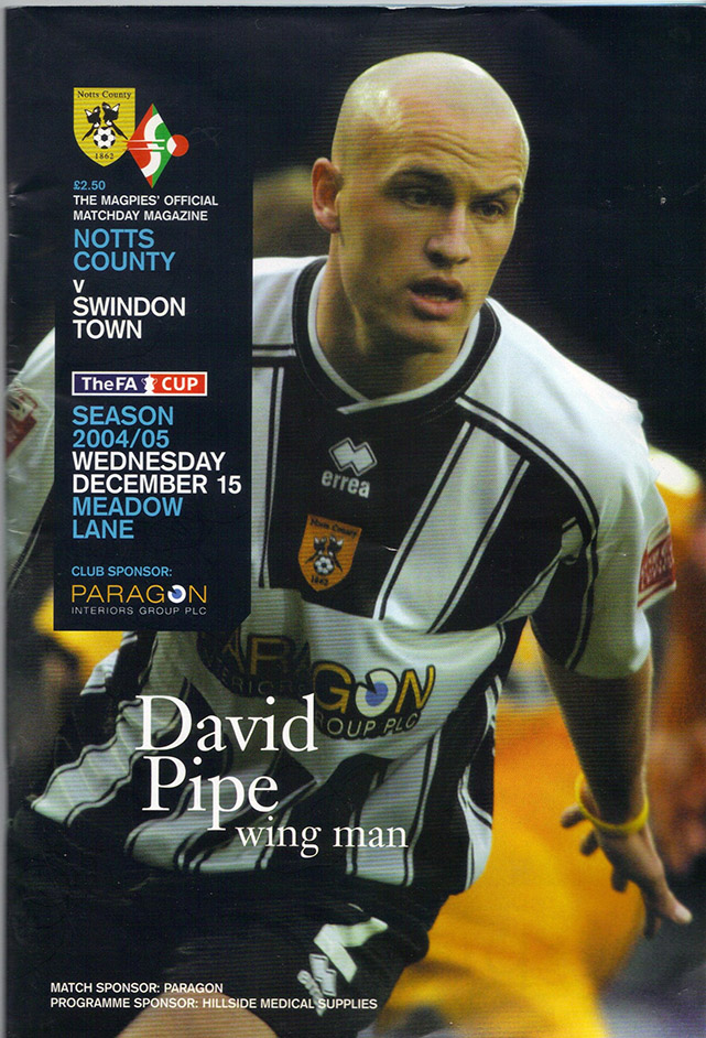 <b>Wednesday, December 15, 2004</b><br />vs. Notts County (Away)