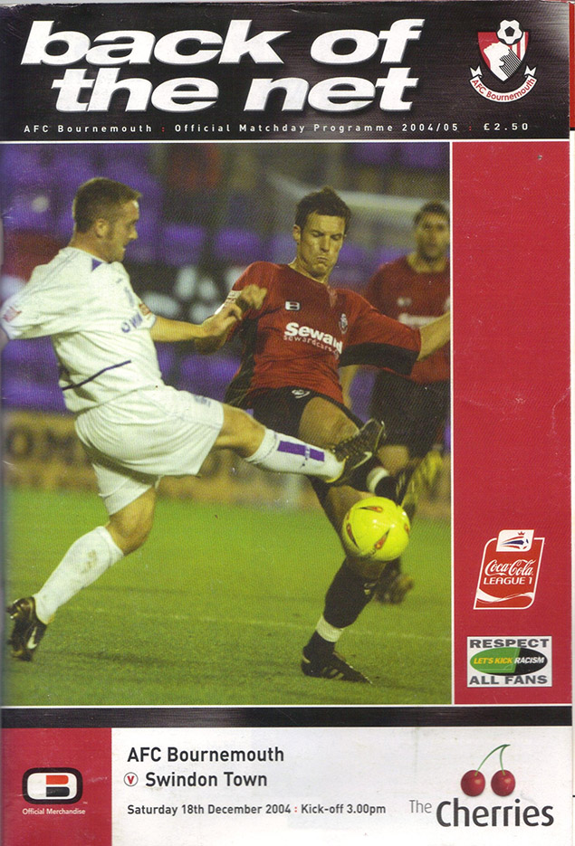 <b>Saturday, December 18, 2004</b><br />vs. AFC Bournemouth (Away)
