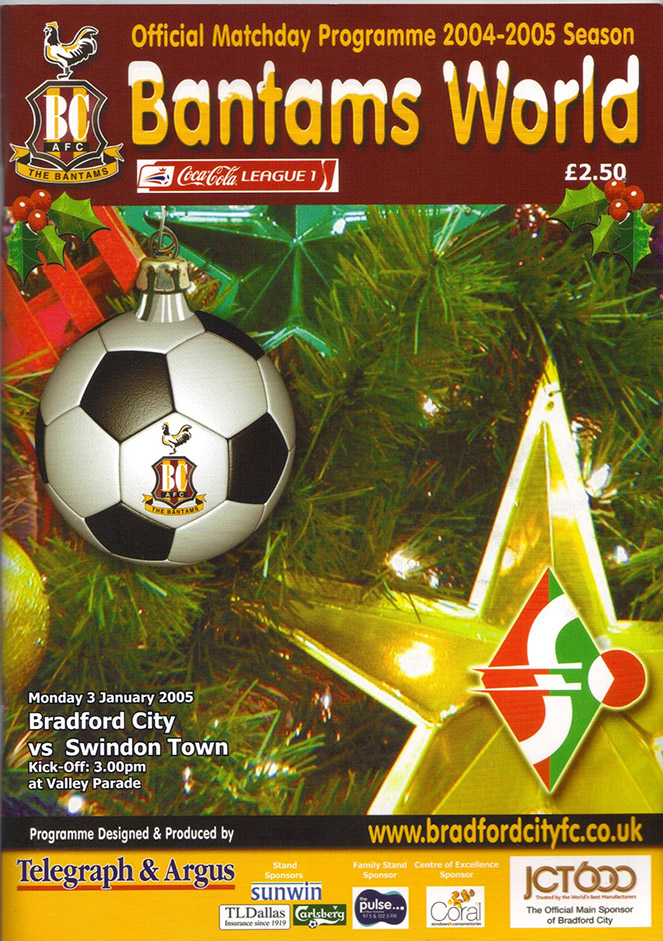<b>Monday, January 3, 2005</b><br />vs. Bradford City (Away)