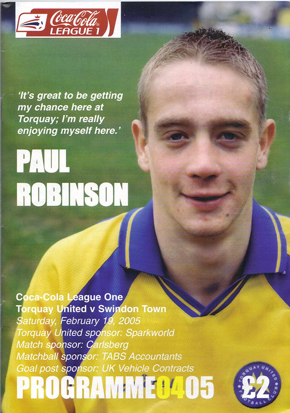 <b>Saturday, February 19, 2005</b><br />vs. Torquay United (Away)