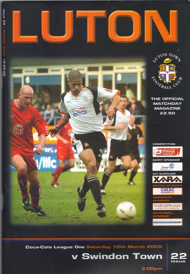 <b>Saturday, March 12, 2005</b><br />vs. Luton Town (Away)