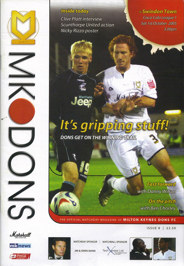 Saturday, October 1, 2005 - vs. Milton Keynes Dons (Away)