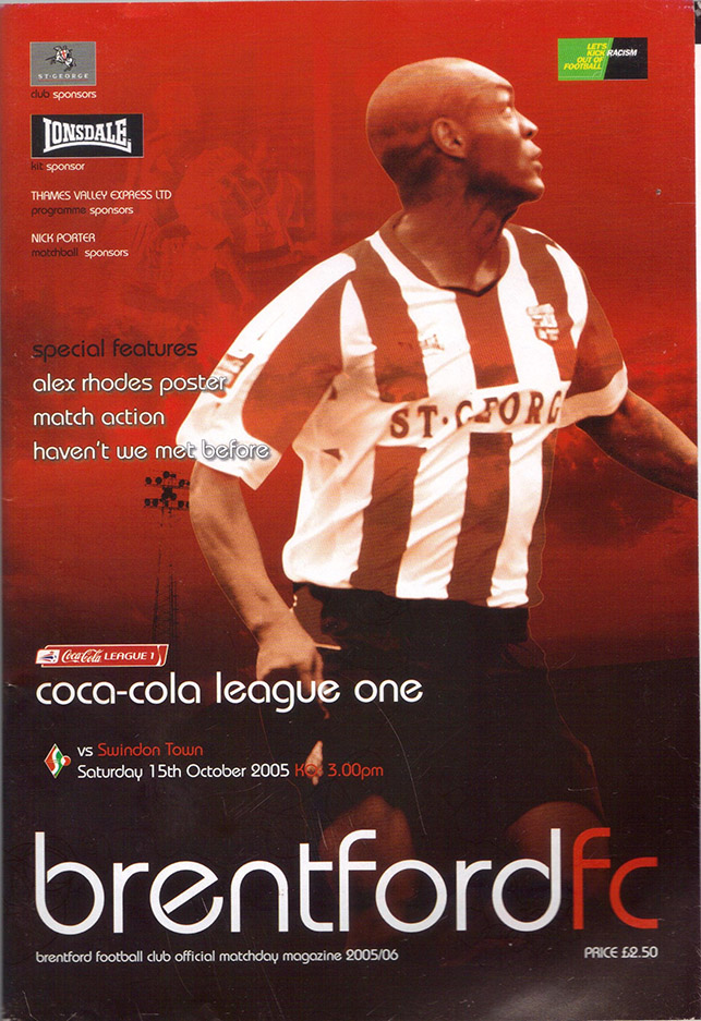 Saturday, October 15, 2005 - vs. Brentford (Away)
