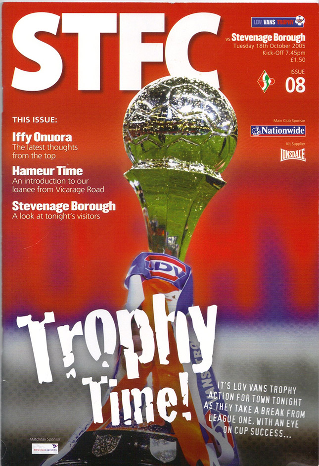 Tuesday, October 18, 2005 - vs. Stevenage Borough (Home)