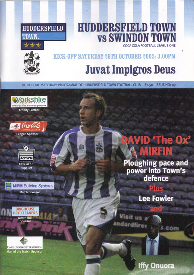 Saturday, October 29, 2005 - vs. Huddersfield Town (Away)