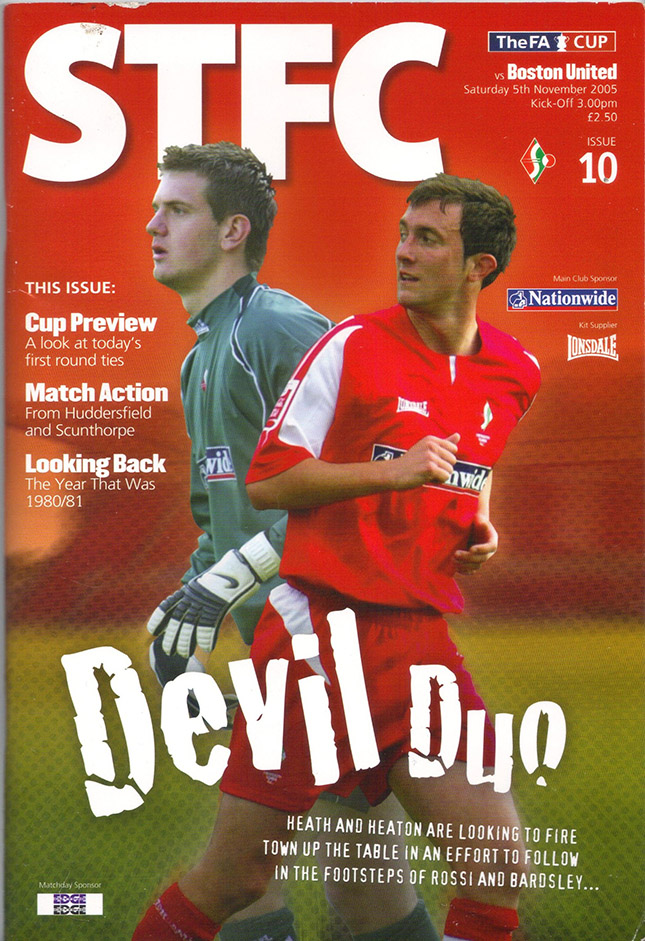 Saturday, November 5, 2005 - vs. Boston United (Home)