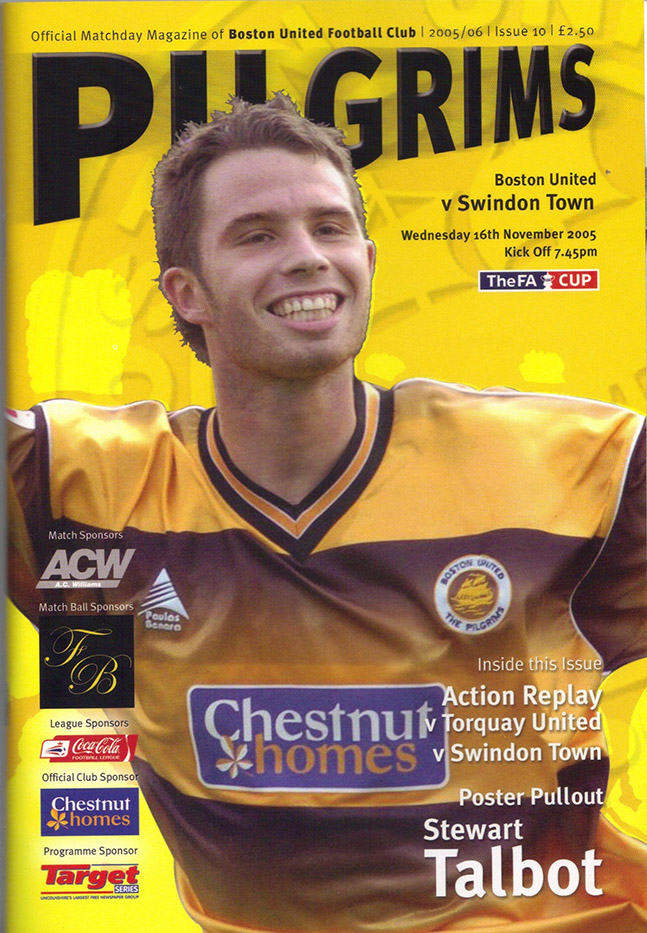 Wednesday, November 16, 2005 - vs. Boston United (Away)
