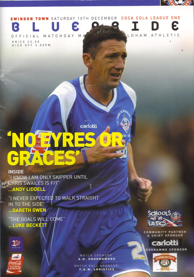 Saturday, December 10, 2005 - vs. Oldham Athletic (Away)