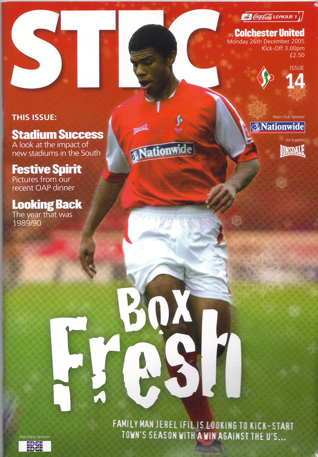 Monday, December 26, 2005 - vs. Colchester United (Home)