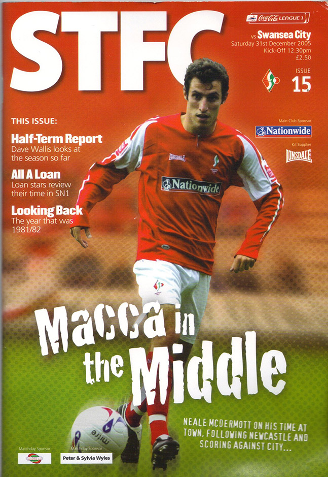 Saturday, December 31, 2005 - vs. Swansea City (Home)
