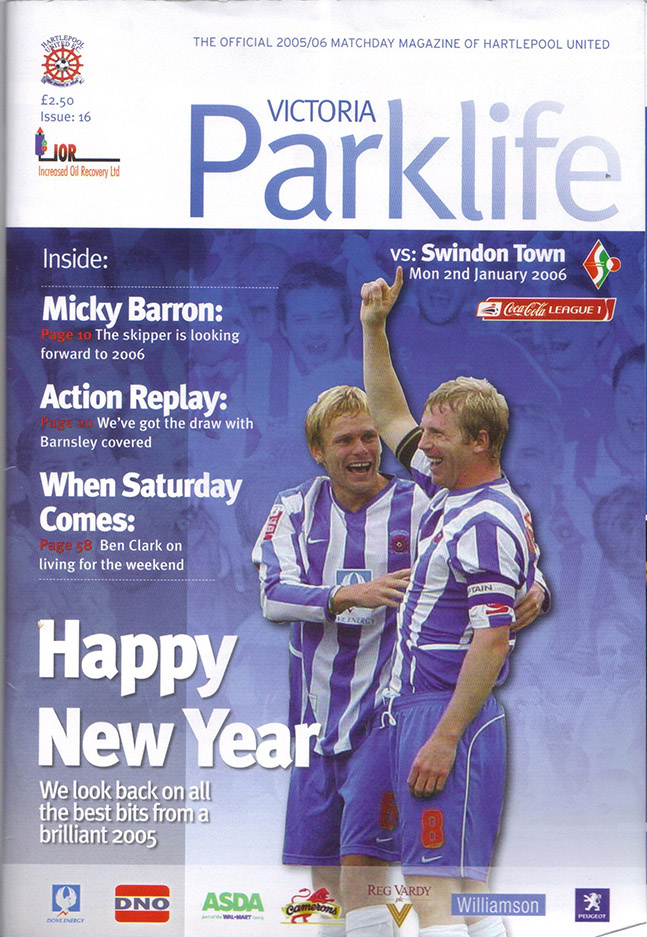 Monday, January 2, 2006 - vs. Hartlepool United (Away)