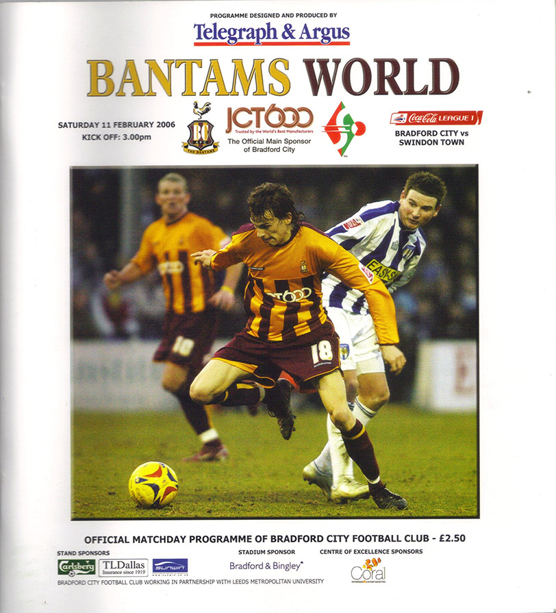 Saturday, February 11, 2006 - vs. Bradford City (Away)