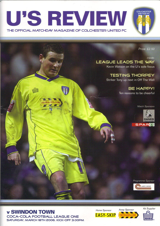 Saturday, March 18, 2006 - vs. Colchester United (Away)