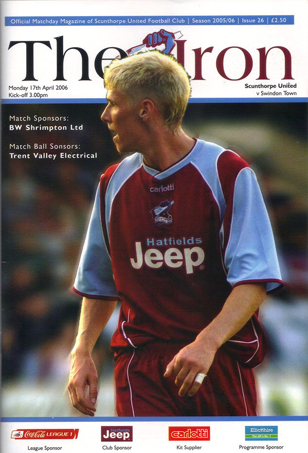 Monday, April 17, 2006 - vs. Scunthorpe United (Away)
