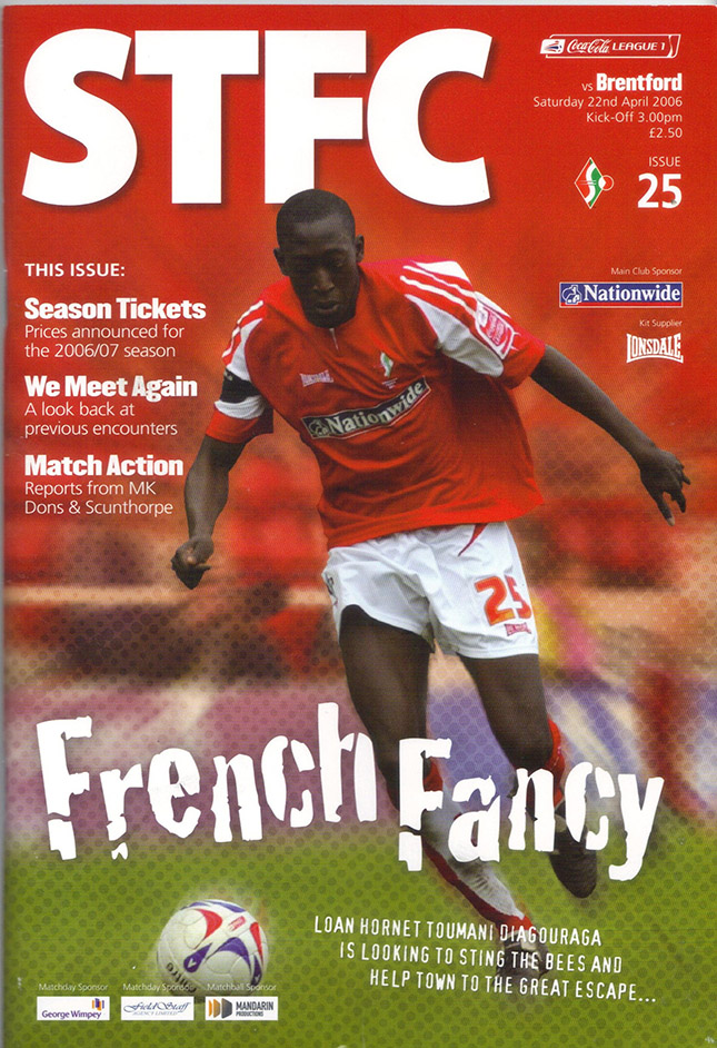 Saturday, April 22, 2006 - vs. Brentford (Home)