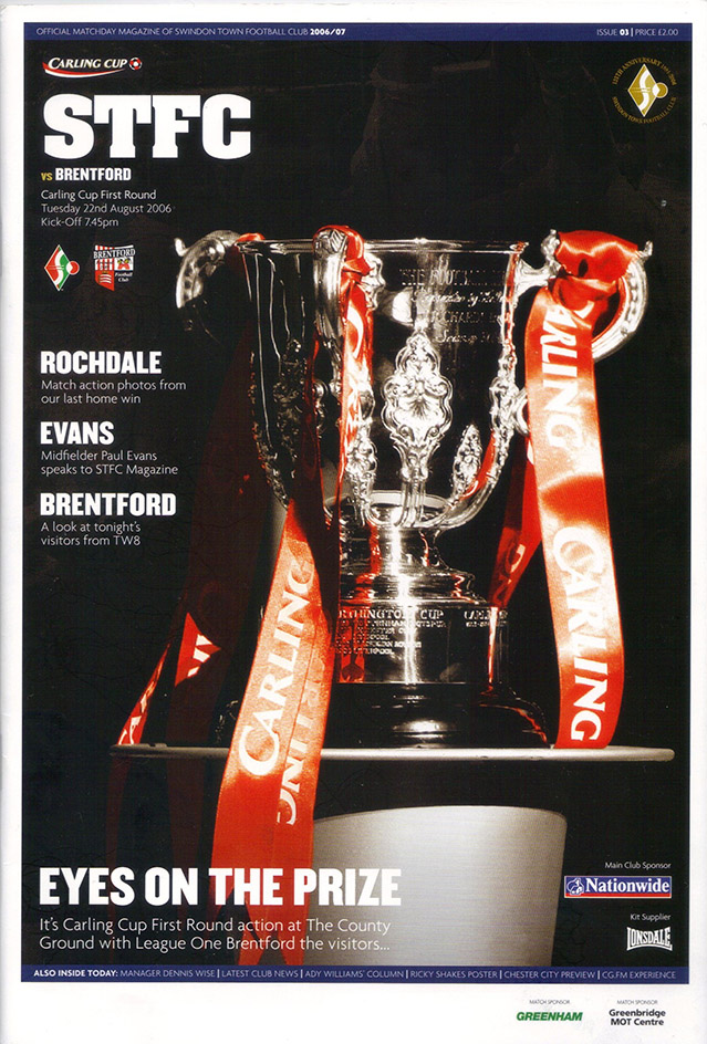 Tuesday, August 22, 2006 - vs. Brentford (Home)