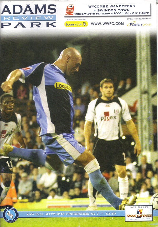 Tuesday, September 26, 2006 - vs. Wycombe Wanderers (Away)