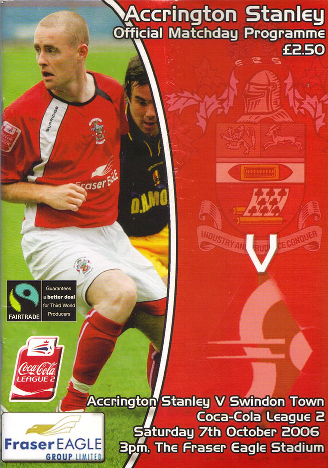 Saturday, October 7, 2006 - vs. Accrington Stanley (Away)