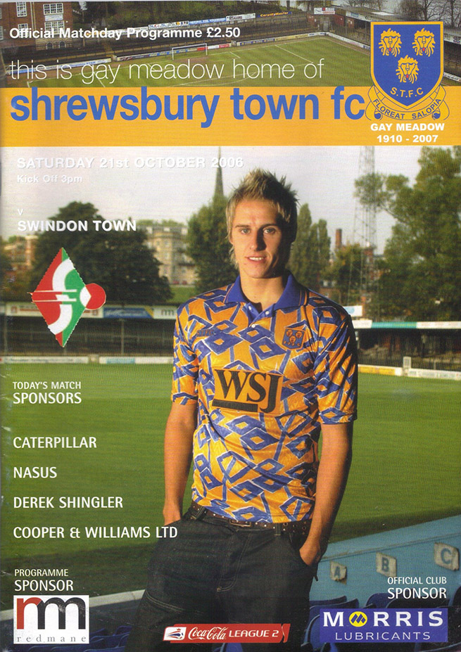 Saturday, October 21, 2006 - vs. Shrewsbury Town (Away)
