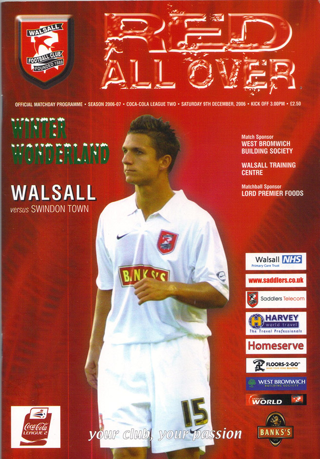 Saturday, December 9, 2006 - vs. Walsall (Away)