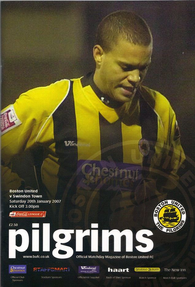 Saturday, January 20, 2007 - vs. Boston United (Away)