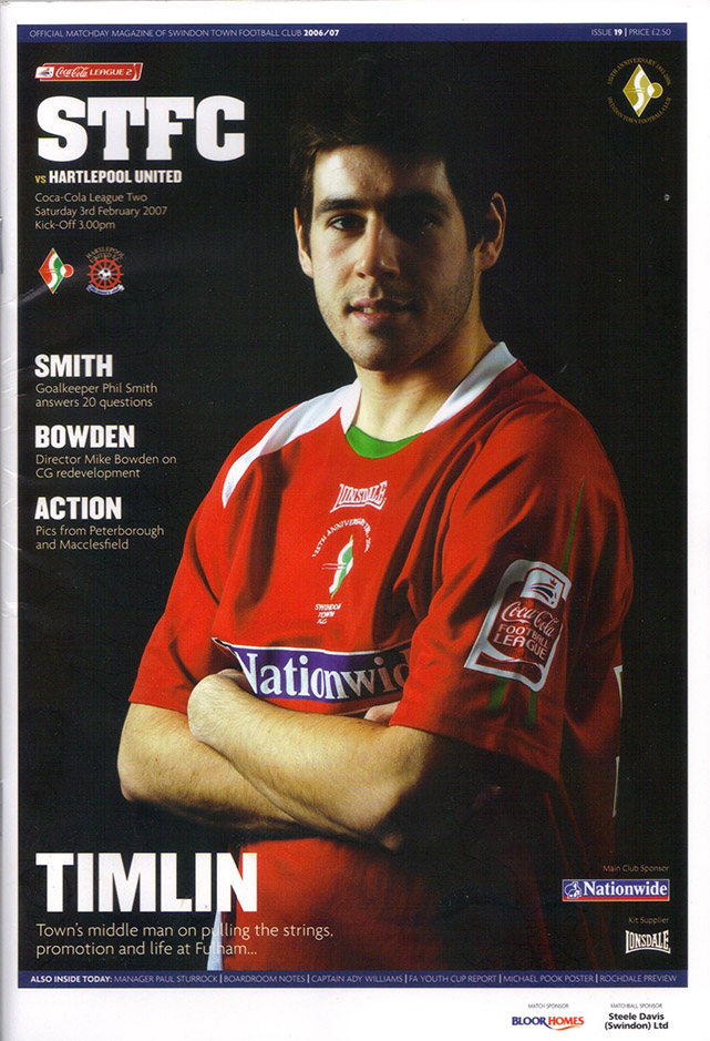 Saturday, February 3, 2007 - vs. Hartlepool United (Home)
