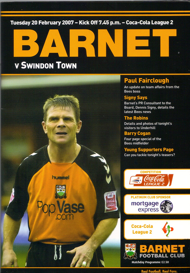 Tuesday, February 20, 2007 - vs. Barnet (Away)