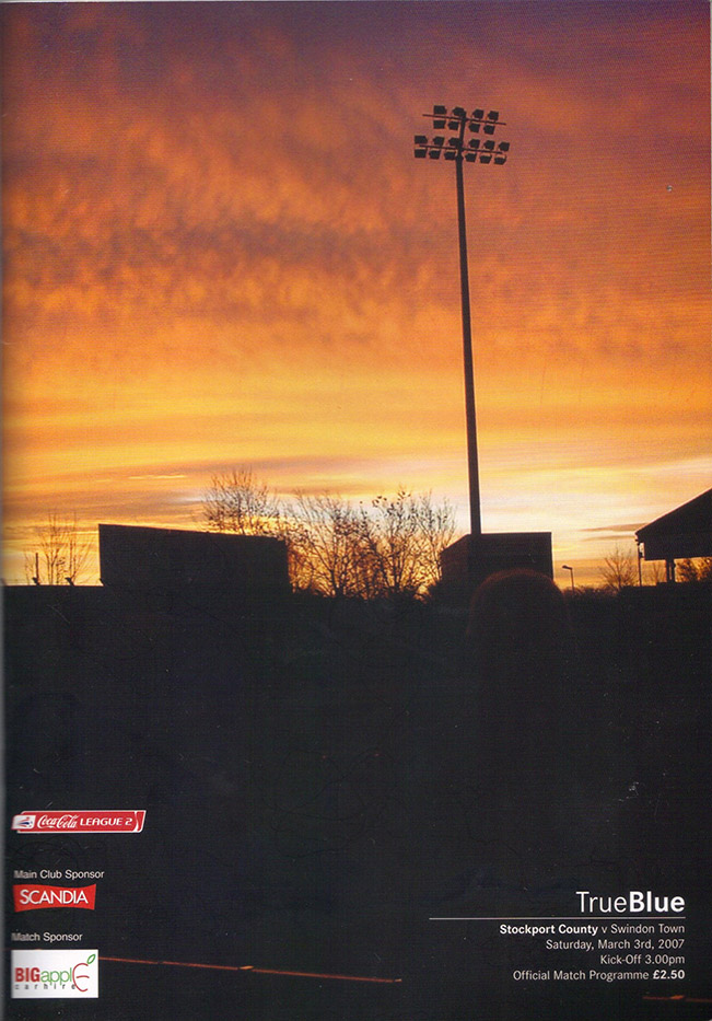 Saturday, March 3, 2007 - vs. Stockport County (Away)