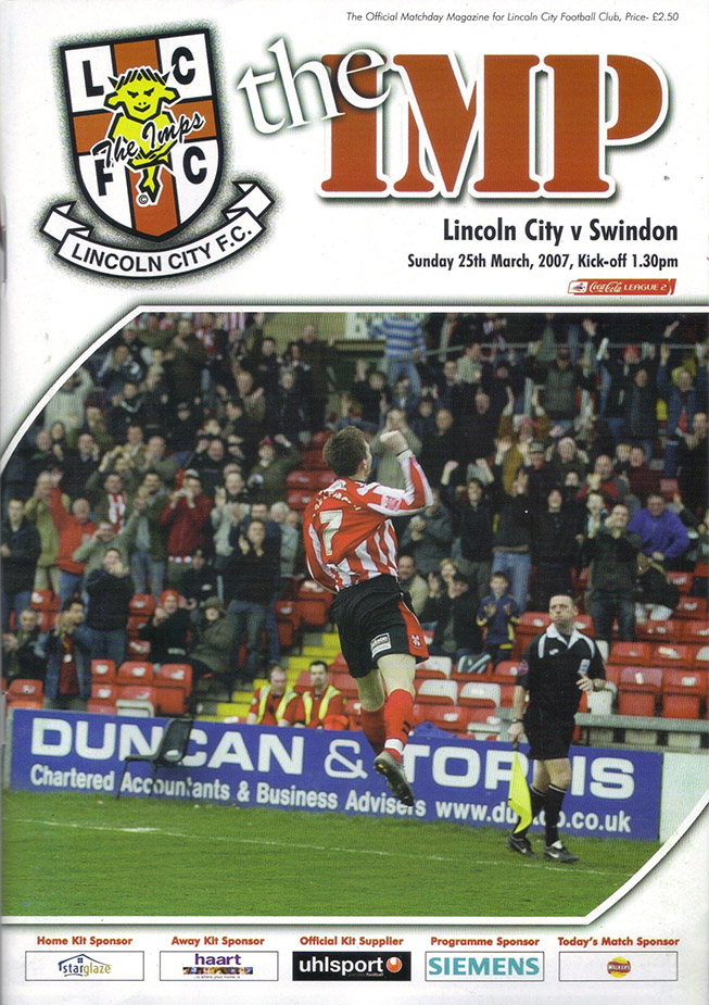 Sunday, March 25, 2007 - vs. Lincoln City (Away)
