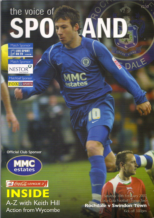 Tuesday, April 3, 2007 - vs. Rochdale (Away)