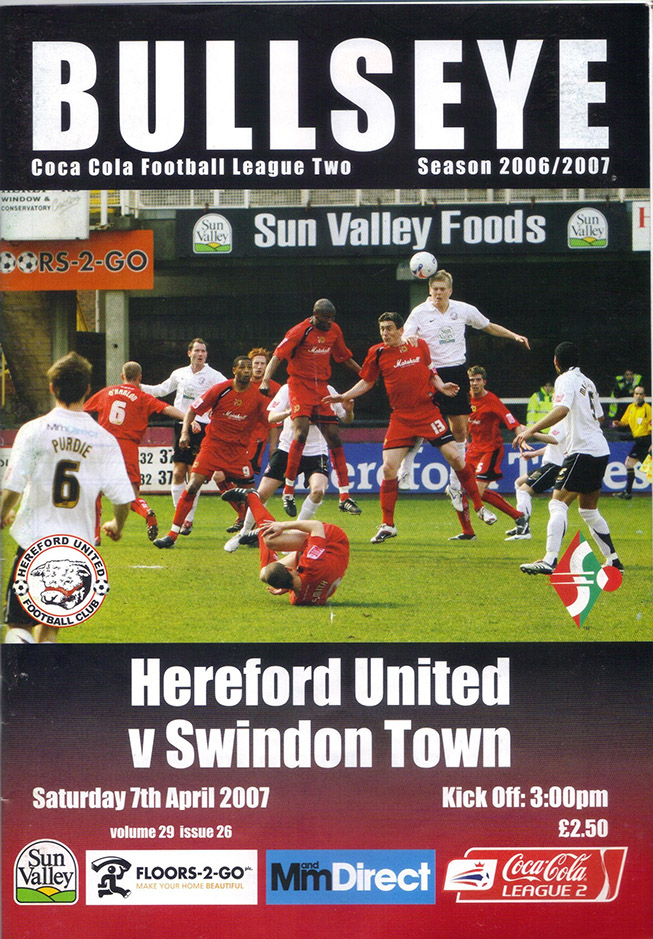 Saturday, April 7, 2007 - vs. Hereford United (Away)