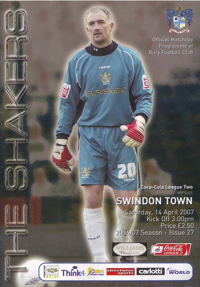 Saturday, April 14, 2007 - vs. Bury (Away)