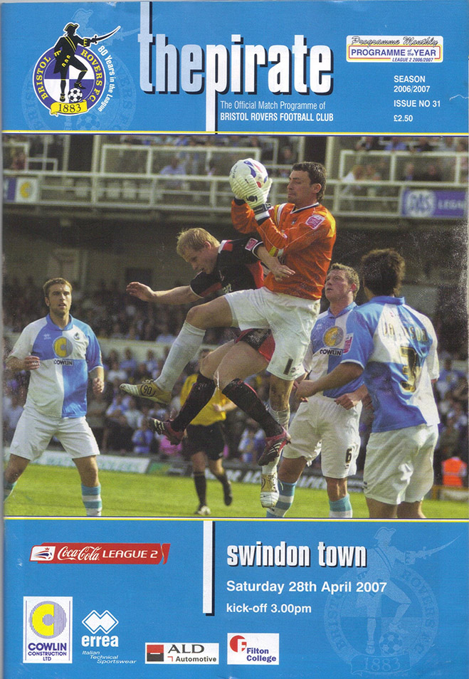 Saturday, April 28, 2007 - vs. Bristol Rovers (Away)