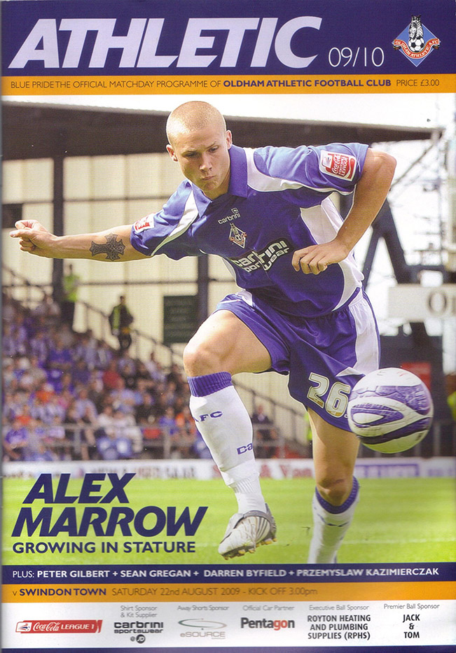 <b>Saturday, August 22, 2009</b><br />vs. Oldham Athletic (Away)