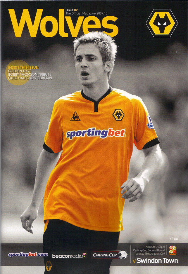 <b>Tuesday, August 25, 2009</b><br />vs. Wolverhampton Wanderers (Away)