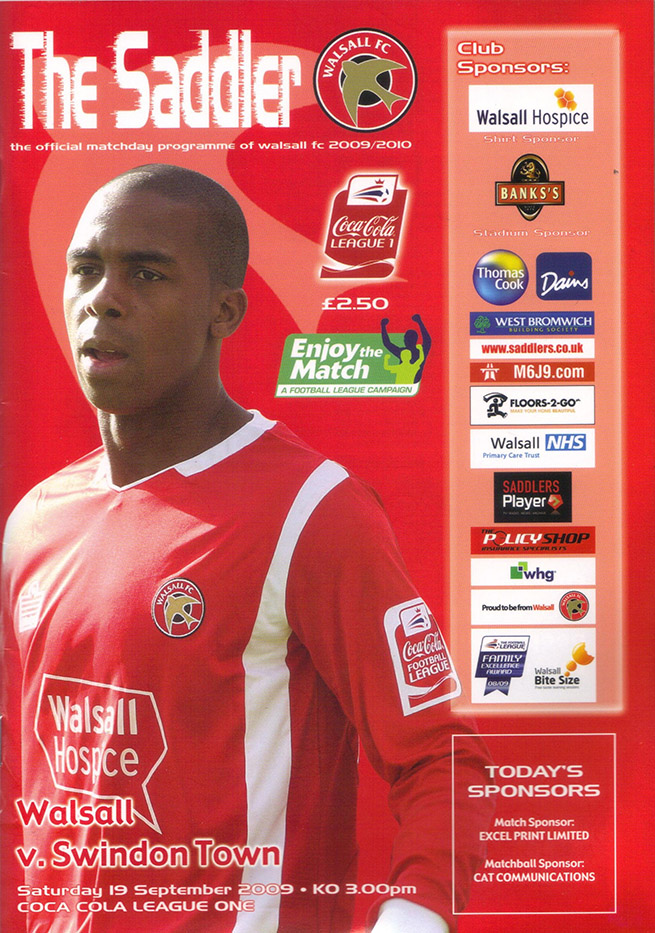 <b>Saturday, September 19, 2009</b><br />vs. Walsall (Away)