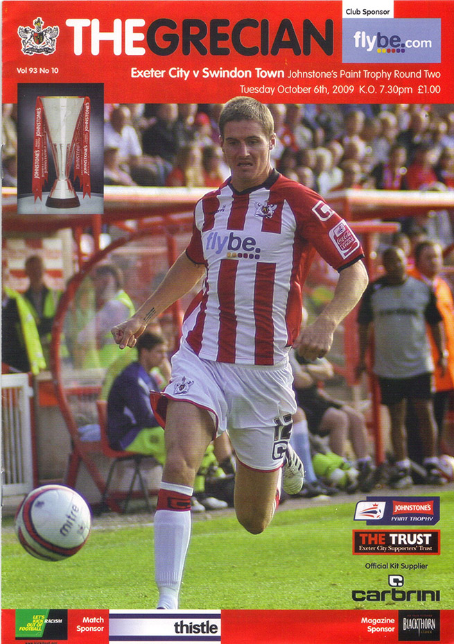 <b>Tuesday, October 6, 2009</b><br />vs. Exeter City (Away)