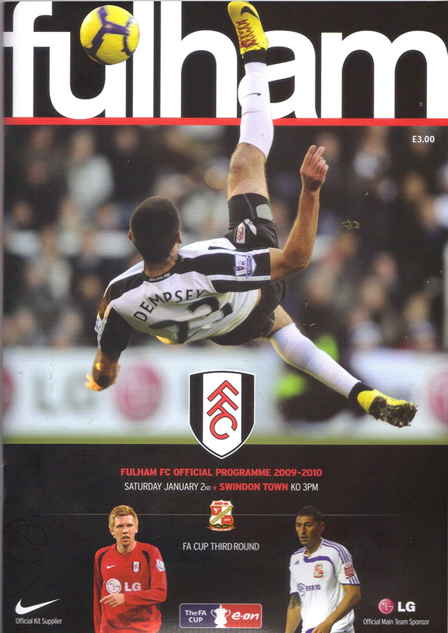 <b>Saturday, January 2, 2010</b><br />vs. Fulham (Away)