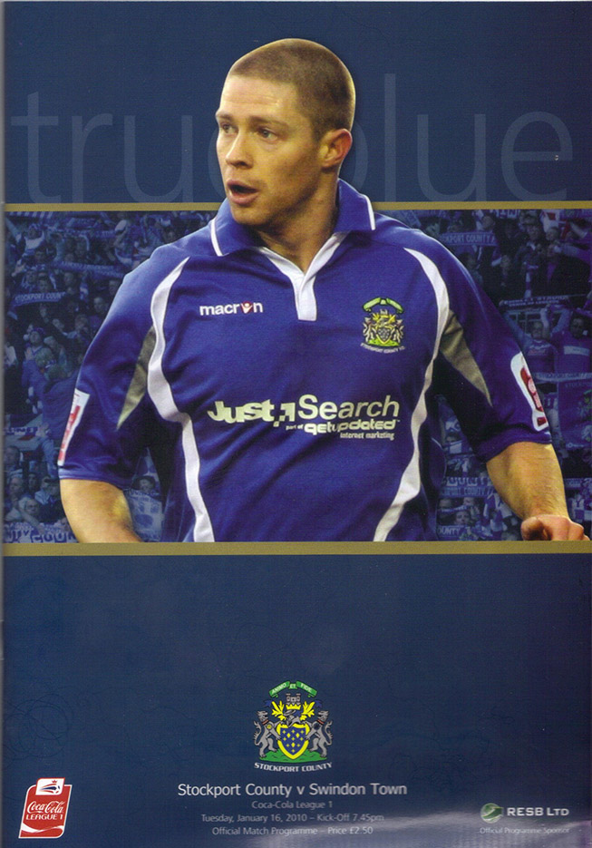 <b>Tuesday, January 19, 2010</b><br />vs. Stockport County (Away)