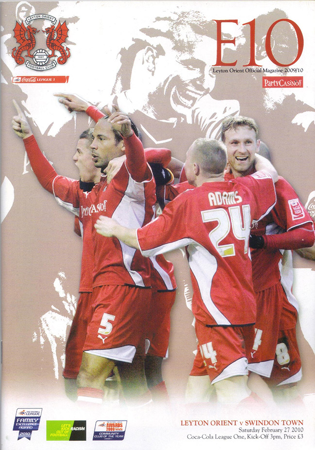 <b>Saturday, February 27, 2010</b><br />vs. Leyton Orient (Away)
