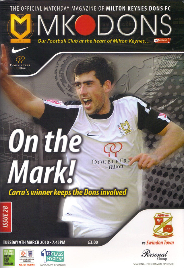 <b>Tuesday, March 9, 2010</b><br />vs. Milton Keynes Dons (Away)